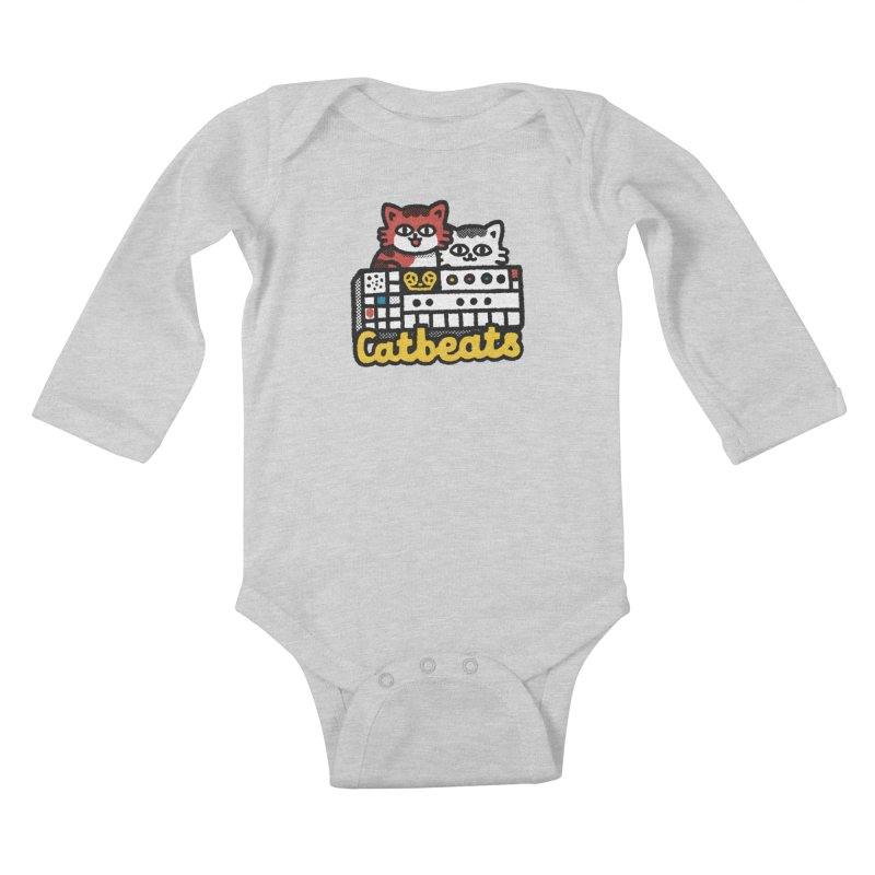 Catbeats Kids Baby Longsleeve Bodysuit by Swedish Columbia's Artist Shop