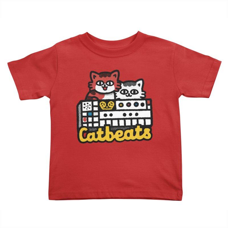 Catbeats Kids Toddler T-Shirt by Swedish Columbia's Artist Shop
