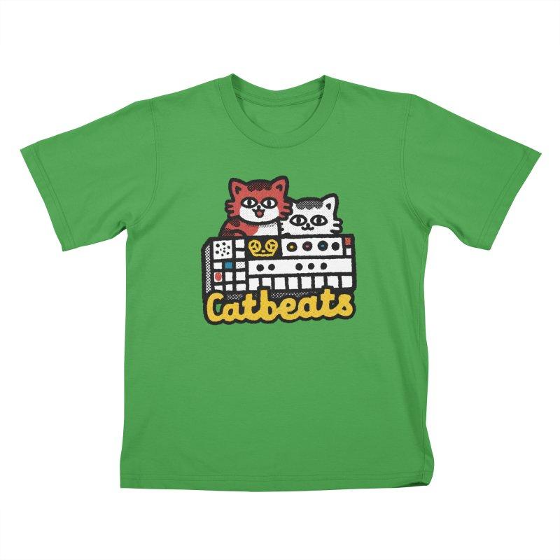 Catbeats Kids T-Shirt by Swedish Columbia's Artist Shop