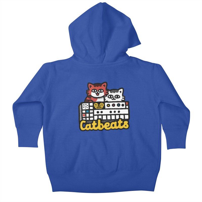 Catbeats Kids Baby Zip-Up Hoody by Swedish Columbia's Artist Shop