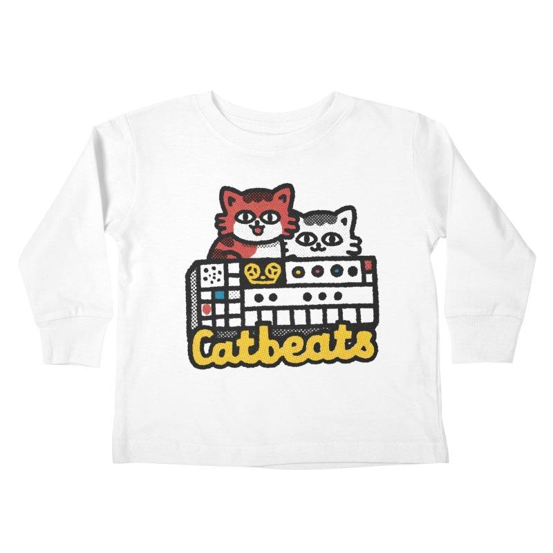 Catbeats Kids Toddler Longsleeve T-Shirt by Swedish Columbia's Artist Shop