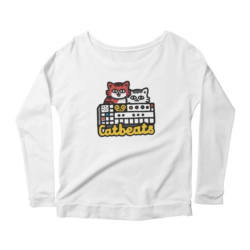 Catbeats Women's Scoop Neck Longsleeve T-Shirt by Swedish Columbia's Artist Shop