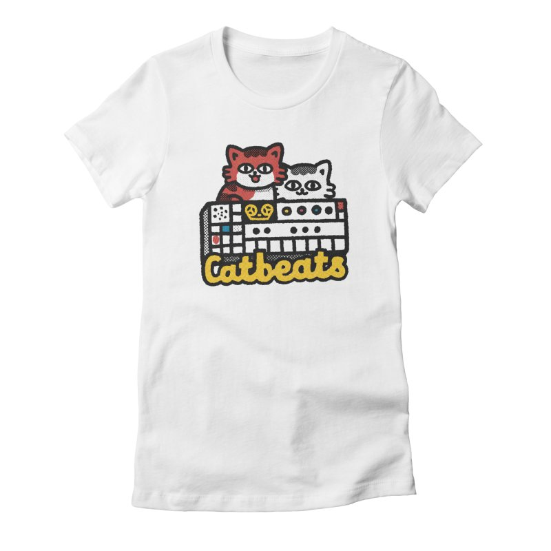 Catbeats Women's Fitted T-Shirt by Swedish Columbia's Artist Shop