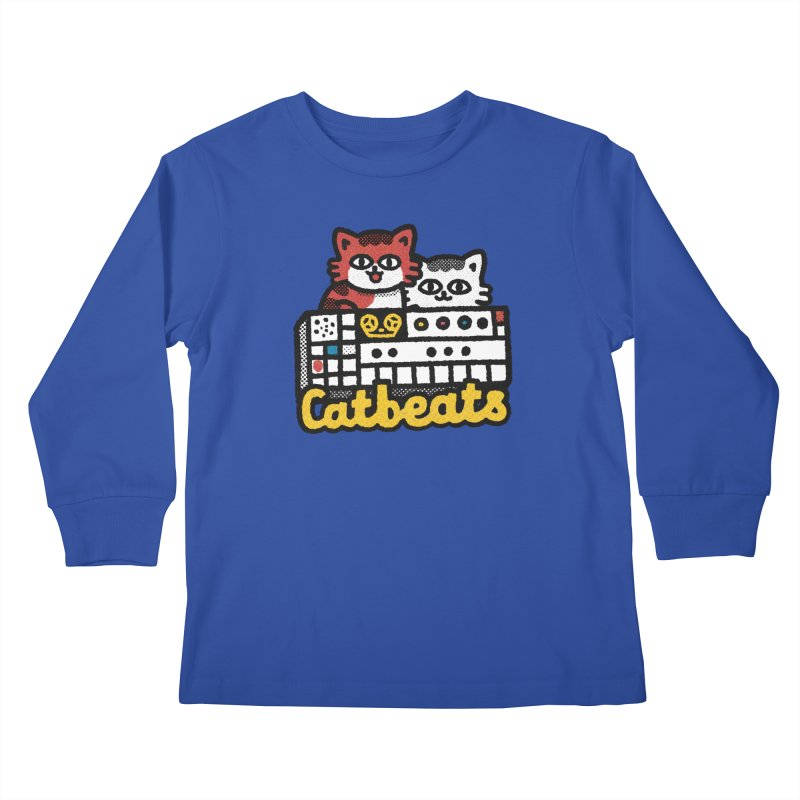 Catbeats Kids Longsleeve T-Shirt by Swedish Columbia's Artist Shop
