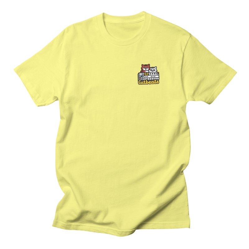 Catbeats - Pocket Print Men's T-Shirt by Swedish Columbia's Artist Shop