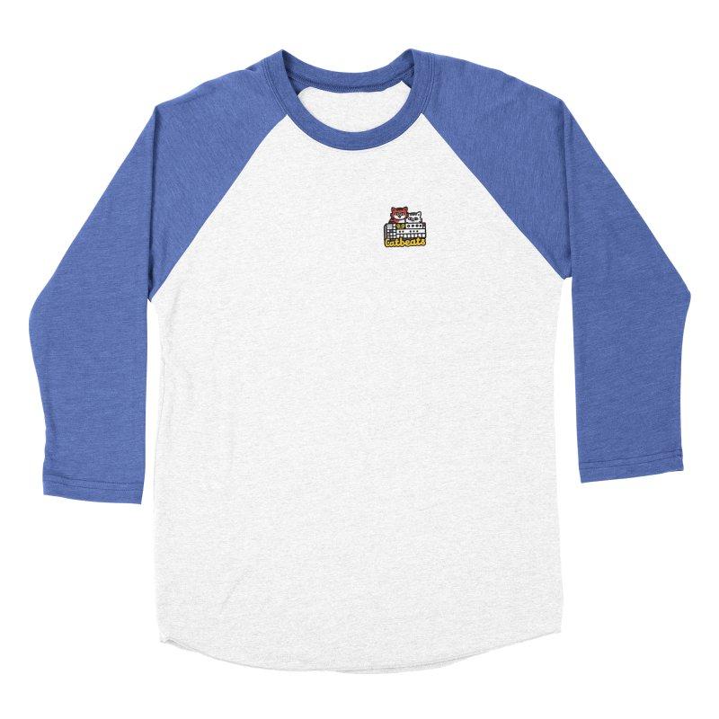 Catbeats - Pocket Print Men's Baseball Triblend Longsleeve T-Shirt by Swedish Columbia's Artist Shop