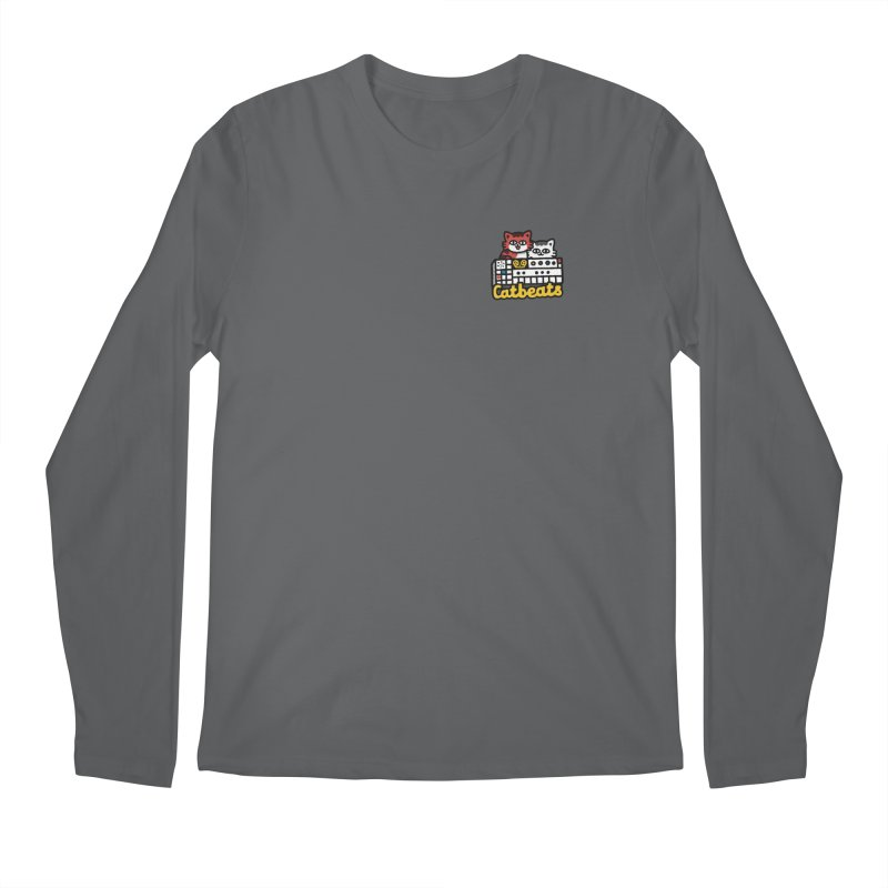 Catbeats - Pocket Print Men's Regular Longsleeve T-Shirt by Swedish Columbia's Artist Shop