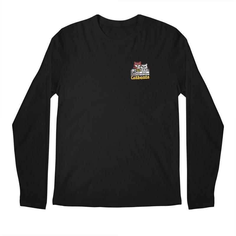 Catbeats - Pocket Print Men's Longsleeve T-Shirt by Swedish Columbia's Artist Shop