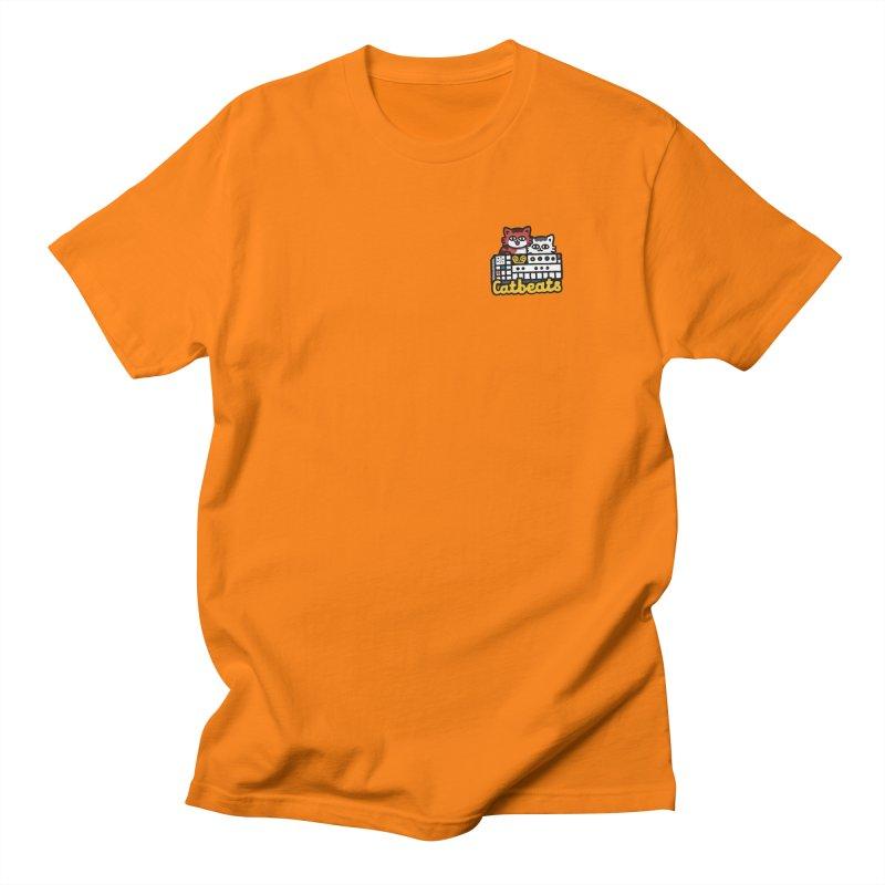 Catbeats - Pocket Print Men's Regular T-Shirt by Swedish Columbia's Artist Shop