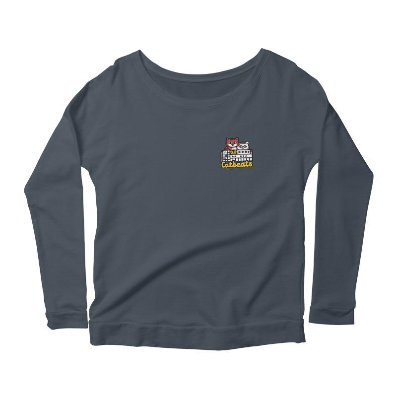 Catbeats - Pocket Print Women's Scoop Neck Longsleeve T-Shirt by Swedish Columbia's Artist Shop