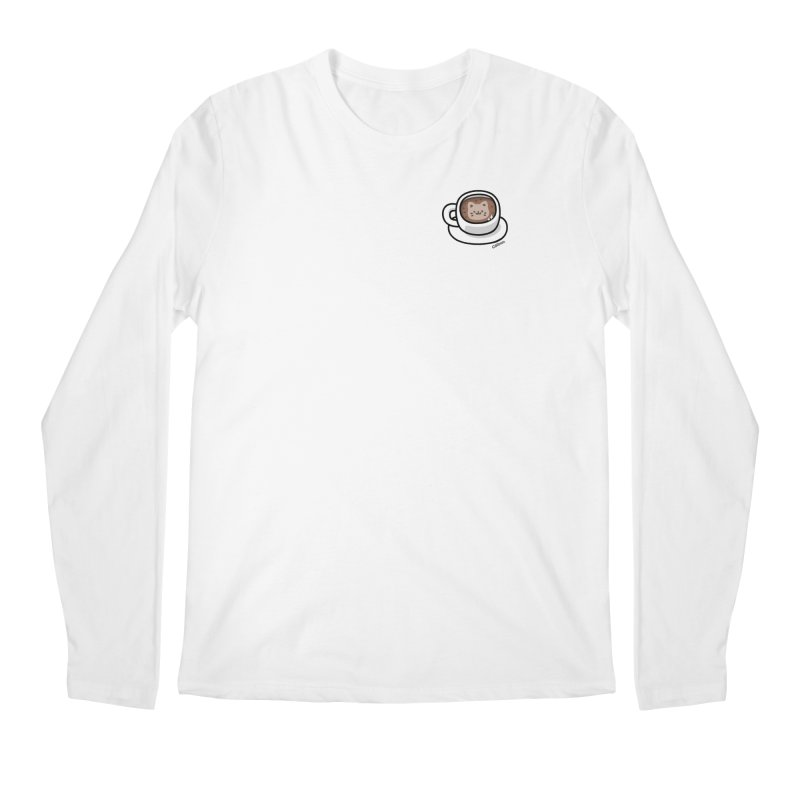 Catuccino — Cat cappuccino Men's Regular Longsleeve T-Shirt by Swedish Columbia's Artist Shop