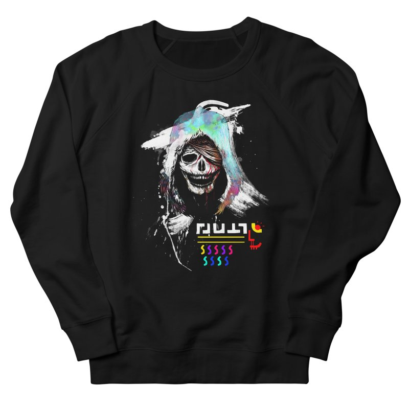 El Huervo - Death's Head Women's French Terry Sweatshirt by Swedish Columbia's Artist Shop