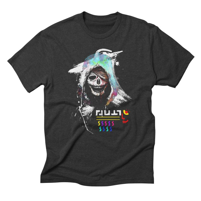 El Huervo - Death's Head Men's Triblend T-Shirt by Swedish Columbia's Artist Shop