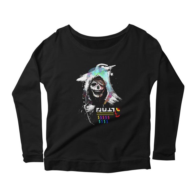 El Huervo - Death's Head Women's Scoop Neck Longsleeve T-Shirt by Swedish Columbia's Artist Shop