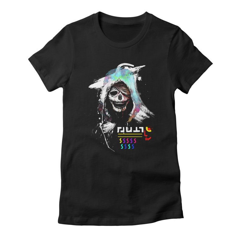 El Huervo - Death's Head Women's Fitted T-Shirt by Swedish Columbia's Artist Shop