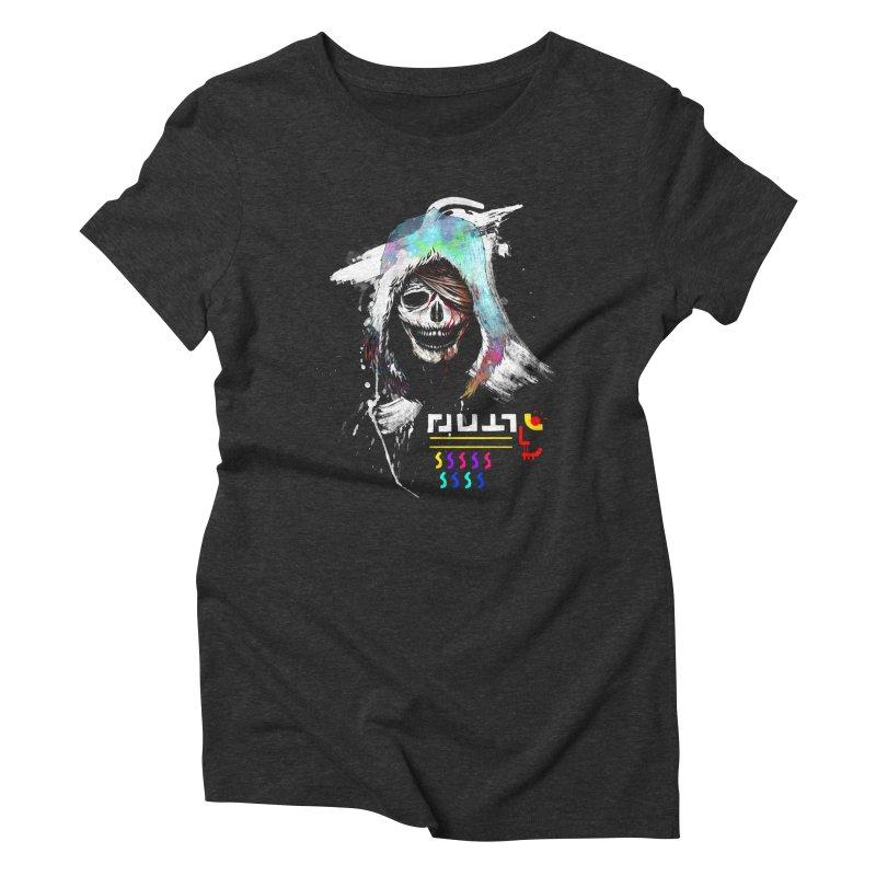 El Huervo - Death's Head Women's Triblend T-Shirt by Swedish Columbia's Artist Shop