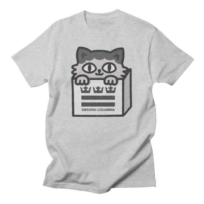 Swedish Columbia - Cat in a box Men's T-Shirt by Swedish Columbia's Artist Shop
