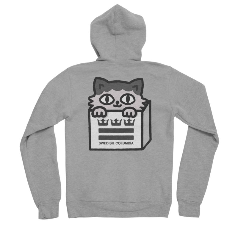 Swedish Columbia - Cat in a box Women's Sponge Fleece Zip-Up Hoody by Swedish Columbia's Artist Shop