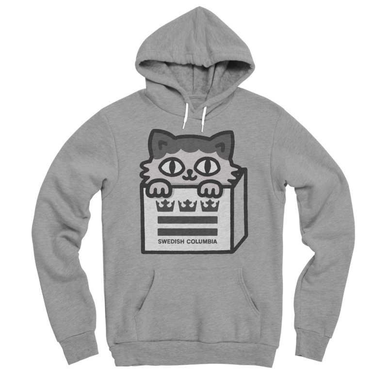 Swedish Columbia - Cat in a box Men's Sponge Fleece Pullover Hoody by Swedish Columbia's Artist Shop