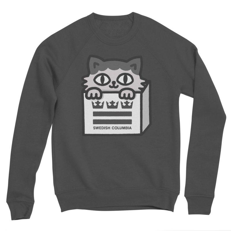 Swedish Columbia - Cat in a box Men's Sponge Fleece Sweatshirt by Swedish Columbia's Artist Shop