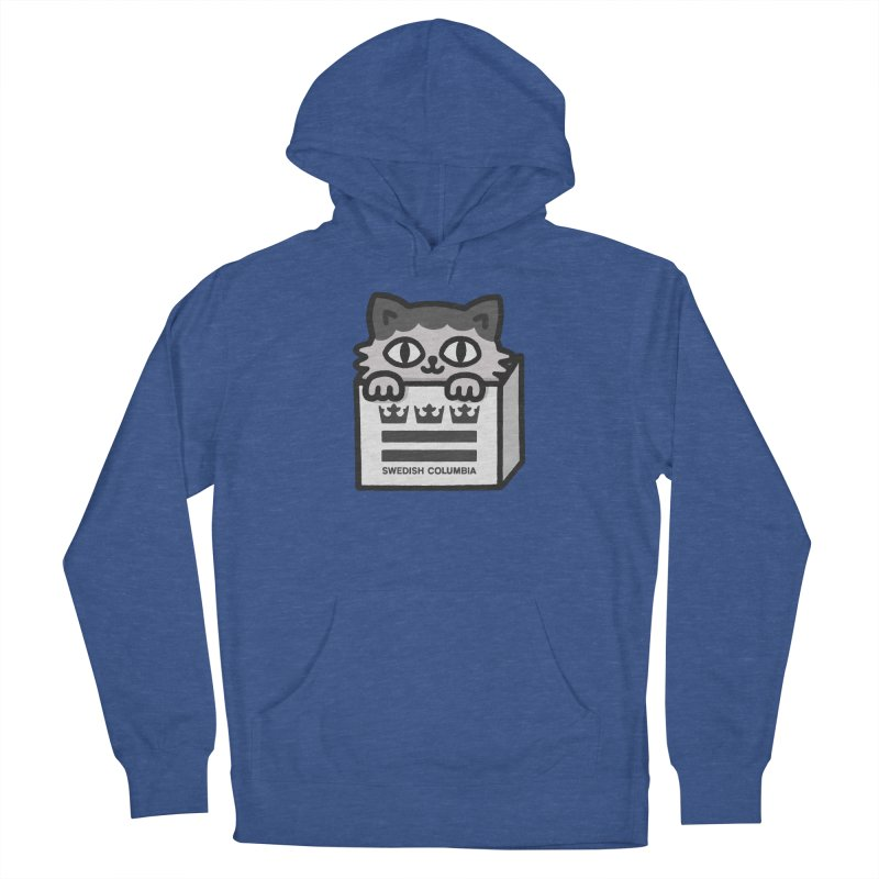 Swedish Columbia - Cat in a box Men's French Terry Pullover Hoody by Swedish Columbia's Artist Shop