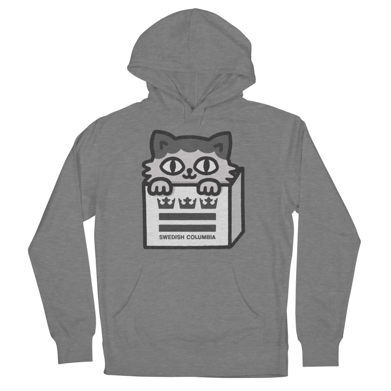 Swedish Columbia - Cat in a box Women's French Terry Pullover Hoody by Swedish Columbia's Artist Shop