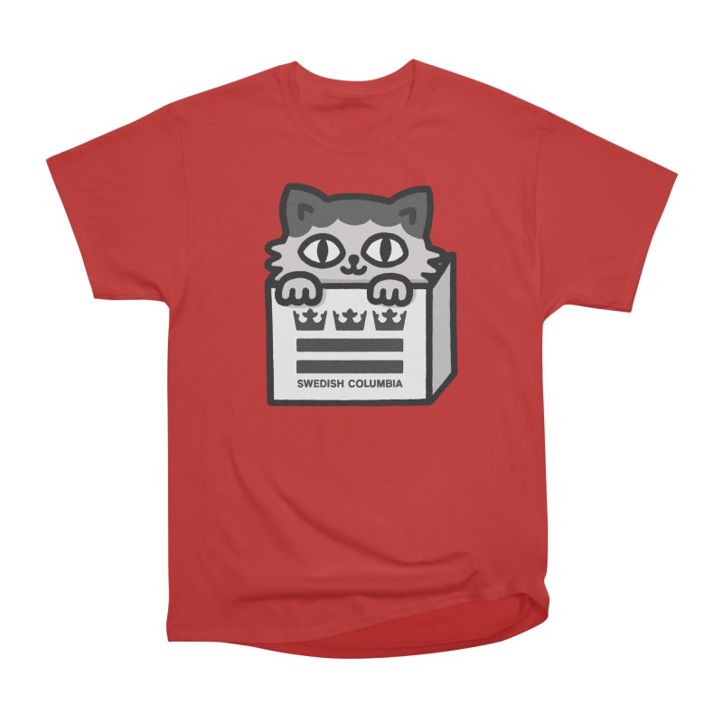 Swedish Columbia - Cat in a box Men's Heavyweight T-Shirt by Swedish Columbia's Artist Shop