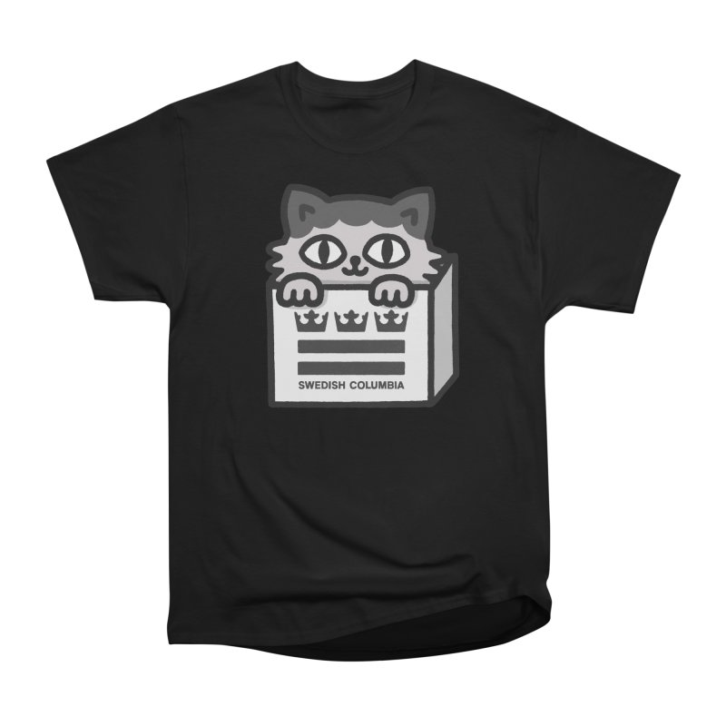 Swedish Columbia - Cat in a box Women's Heavyweight Unisex T-Shirt by Swedish Columbia's Artist Shop