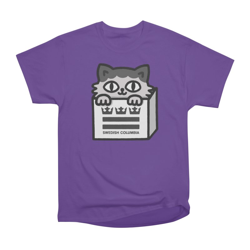 Swedish Columbia - Cat in a box Men's Heavyweight T-Shirt by Swedish Columbia's Artist Shop