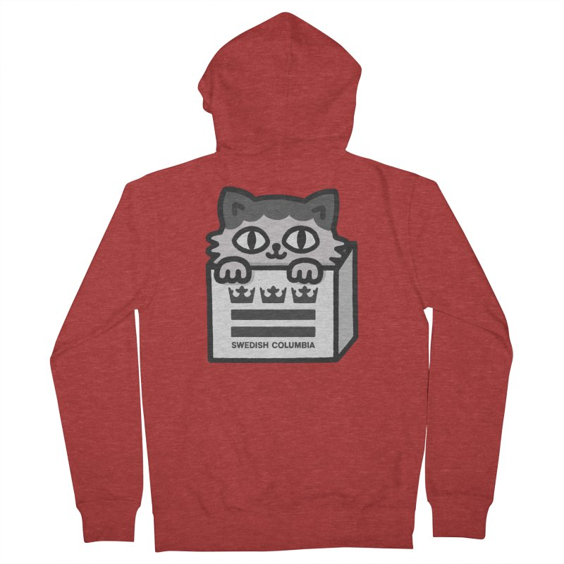 Swedish Columbia - Cat in a box Women's French Terry Zip-Up Hoody by Swedish Columbia's Artist Shop