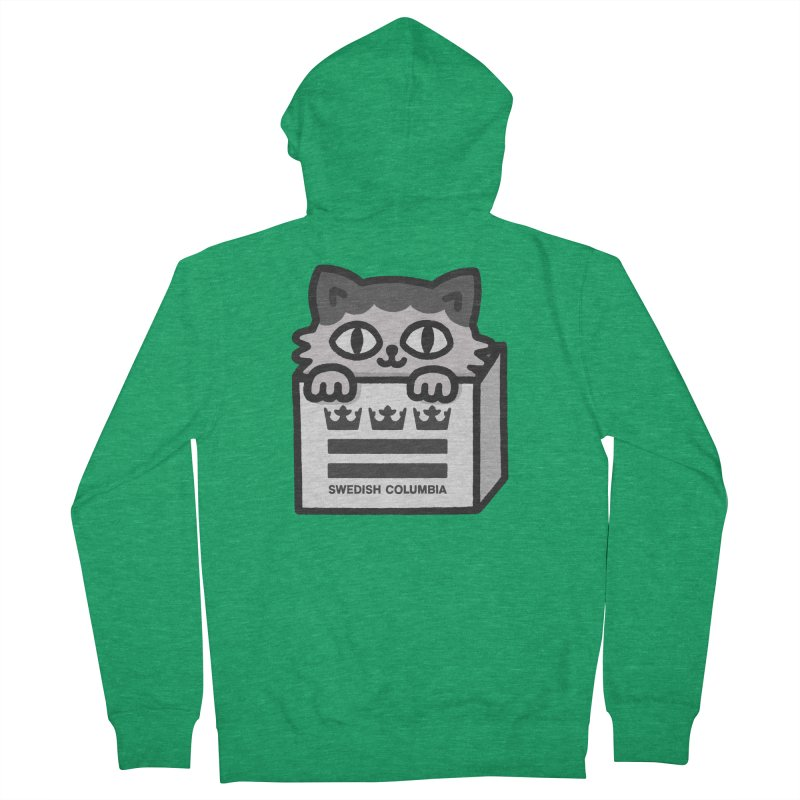 Swedish Columbia - Cat in a box Men's Zip-Up Hoody by Swedish Columbia's Artist Shop