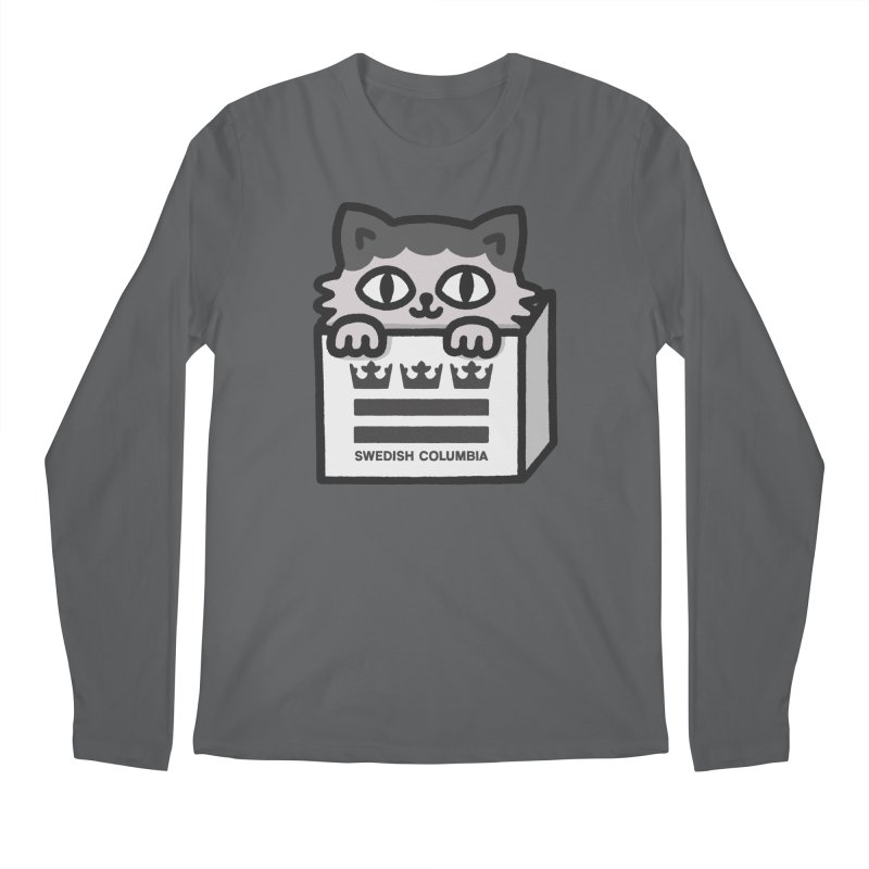 Swedish Columbia - Cat in a box Men's Regular Longsleeve T-Shirt by Swedish Columbia's Artist Shop