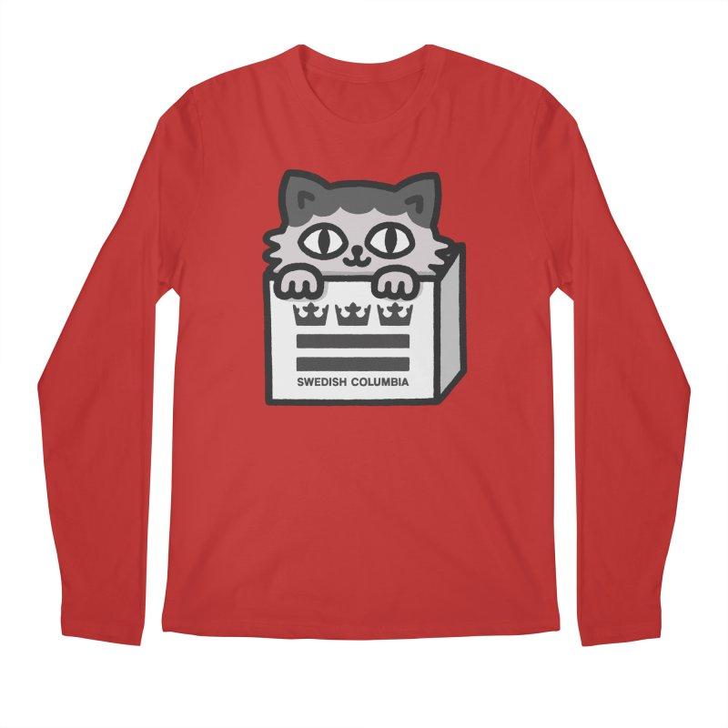 Swedish Columbia - Cat in a box Men's Regular Longsleeve T-Shirt by Swedish Columbia's Artist Shop