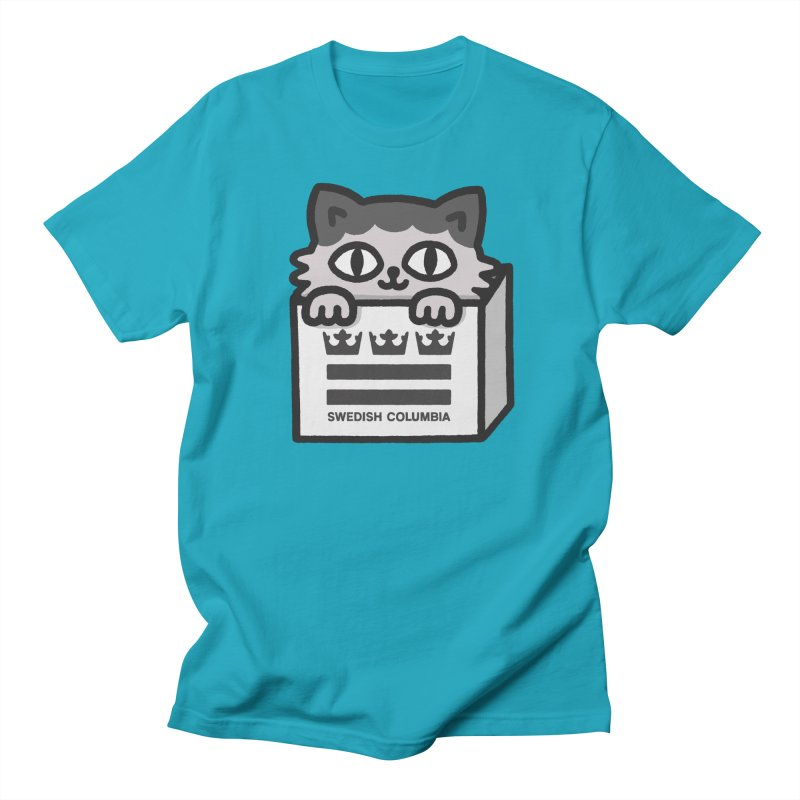 Swedish Columbia - Cat in a box Men's T-Shirt by Swedish Columbia's Artist Shop