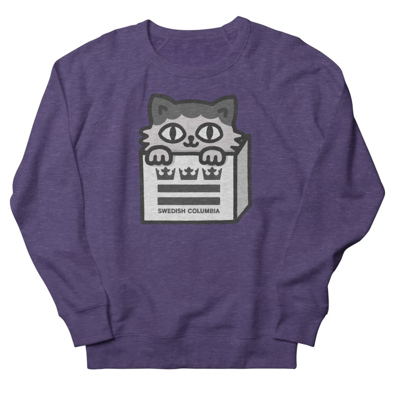 Swedish Columbia - Cat in a box Men's French Terry Sweatshirt by Swedish Columbia's Artist Shop