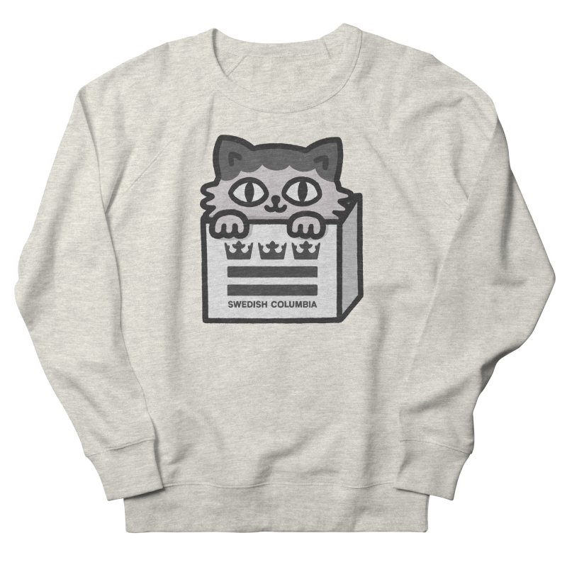 Swedish Columbia - Cat in a box Men's French Terry Sweatshirt by Swedish Columbia's Artist Shop