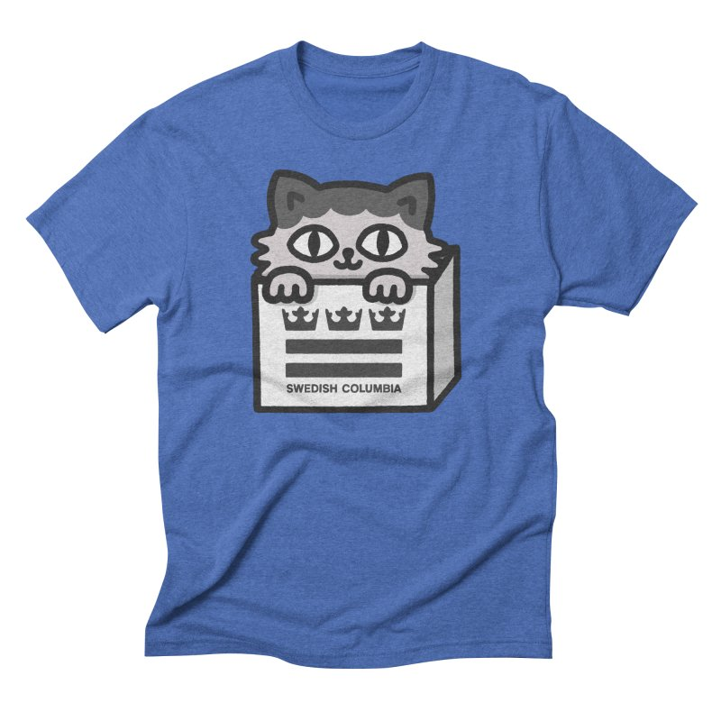 Swedish Columbia - Cat in a box Men's Triblend T-Shirt by Swedish Columbia's Artist Shop