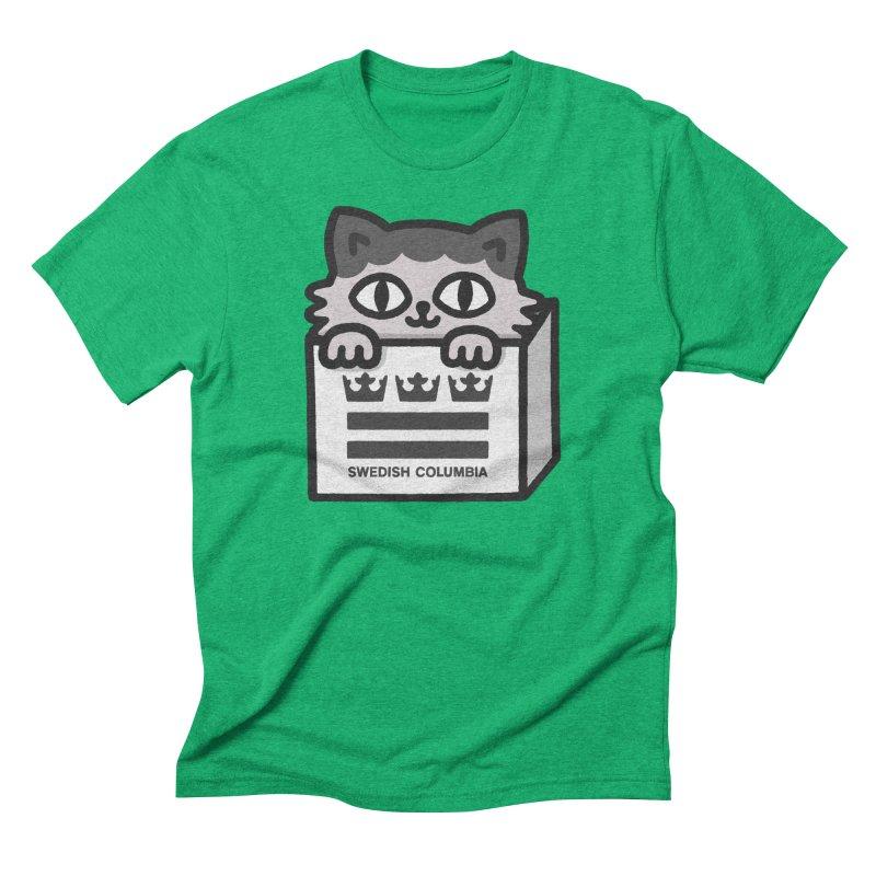 Swedish Columbia - Cat in a box Men's Triblend T-Shirt by Swedish Columbia's Artist Shop