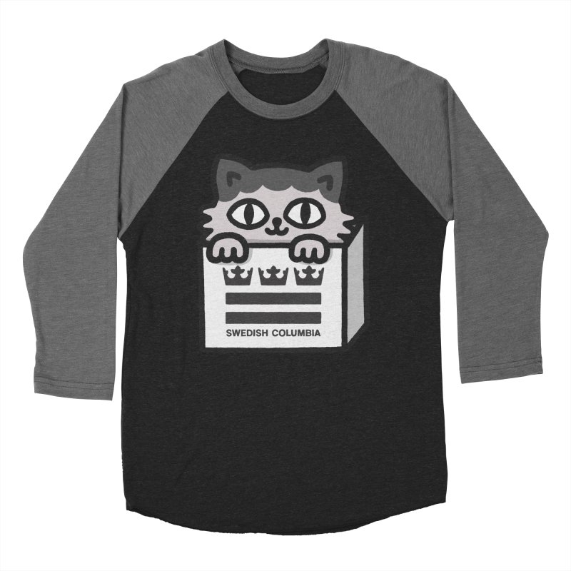 Swedish Columbia - Cat in a box Women's Baseball Triblend Longsleeve T-Shirt by Swedish Columbia's Artist Shop