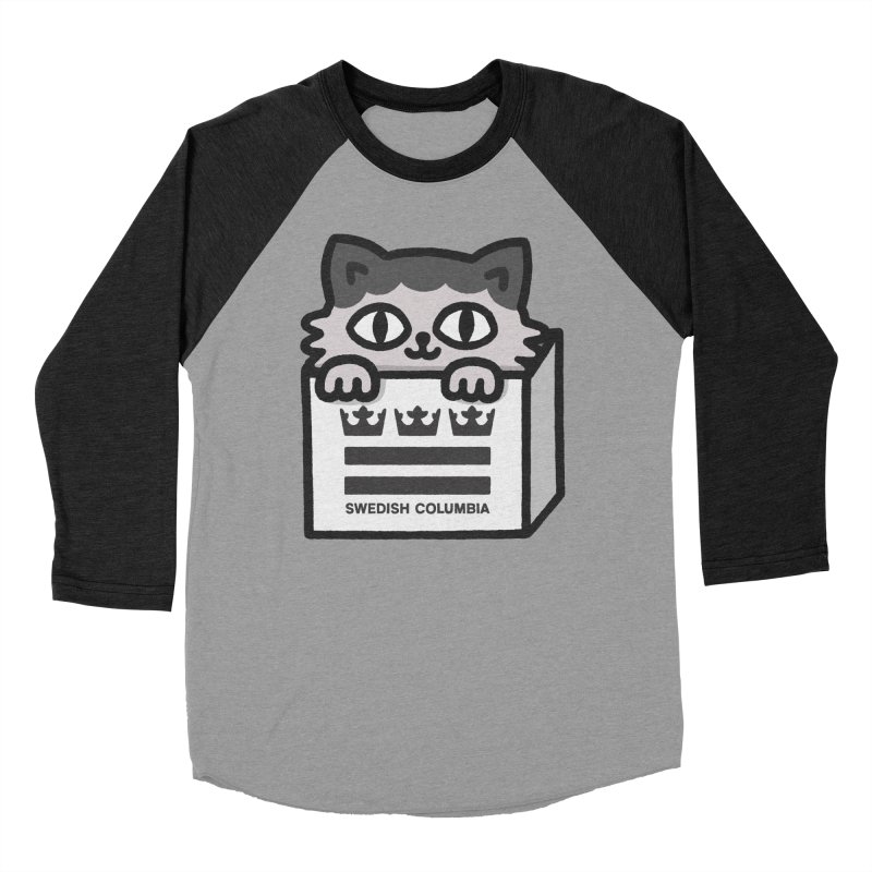 Swedish Columbia - Cat in a box Men's Baseball Triblend Longsleeve T-Shirt by Swedish Columbia's Artist Shop