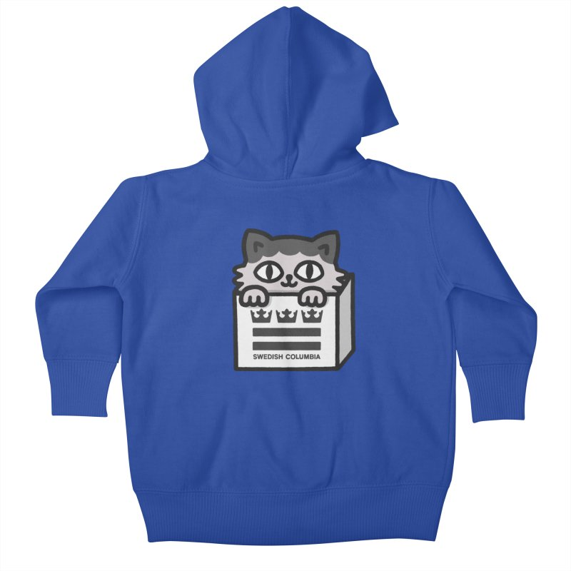 Swedish Columbia - Cat in a box Kids Baby Zip-Up Hoody by Swedish Columbia's Artist Shop