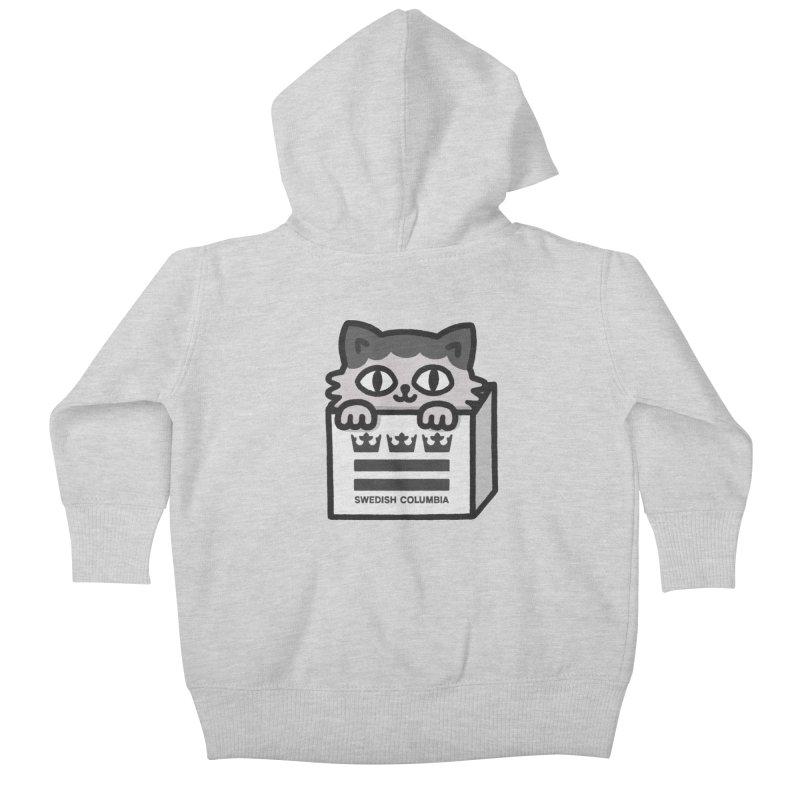 Swedish Columbia - Cat in a box Kids Baby Zip-Up Hoody by Swedish Columbia's Artist Shop