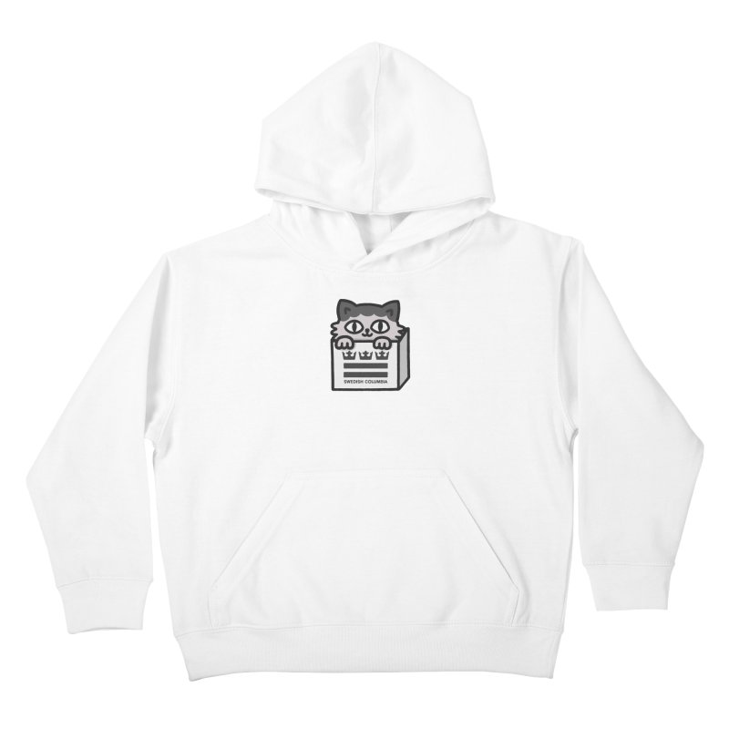 Swedish Columbia - Cat in a box Kids Pullover Hoody by Swedish Columbia's Artist Shop