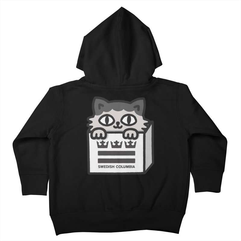 Swedish Columbia - Cat in a box Kids Toddler Zip-Up Hoody by Swedish Columbia's Artist Shop