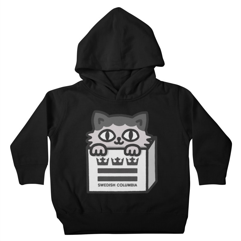 Swedish Columbia - Cat in a box Kids Toddler Pullover Hoody by Swedish Columbia's Artist Shop