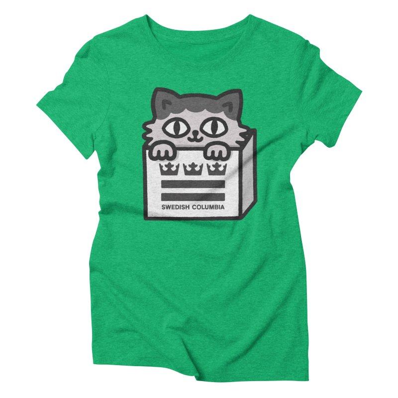 Swedish Columbia - Cat in a box Women's Triblend T-Shirt by Swedish Columbia's Artist Shop