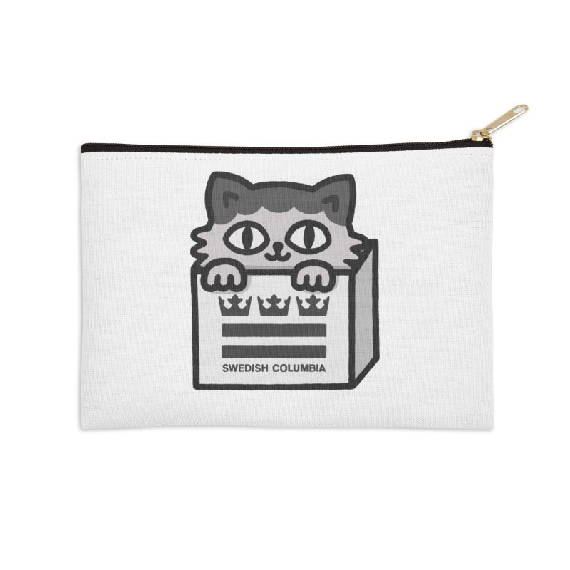 Swedish Columbia - Cat in a box Accessories Zip Pouch by Swedish Columbia's Artist Shop