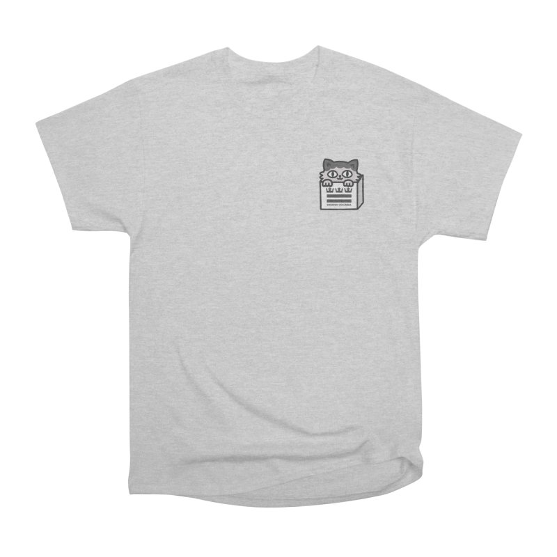 Swedish Columbia cat in a box small Men's Heavyweight T-Shirt by Swedish Columbia's Artist Shop