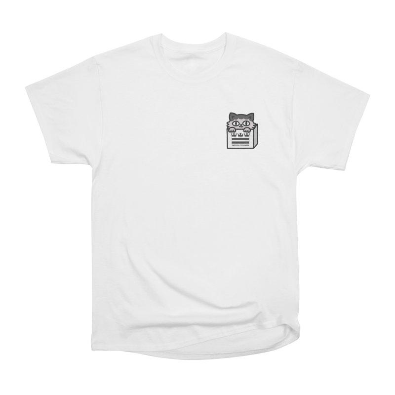 Swedish Columbia cat in a box small Women's Heavyweight Unisex T-Shirt by Swedish Columbia's Artist Shop