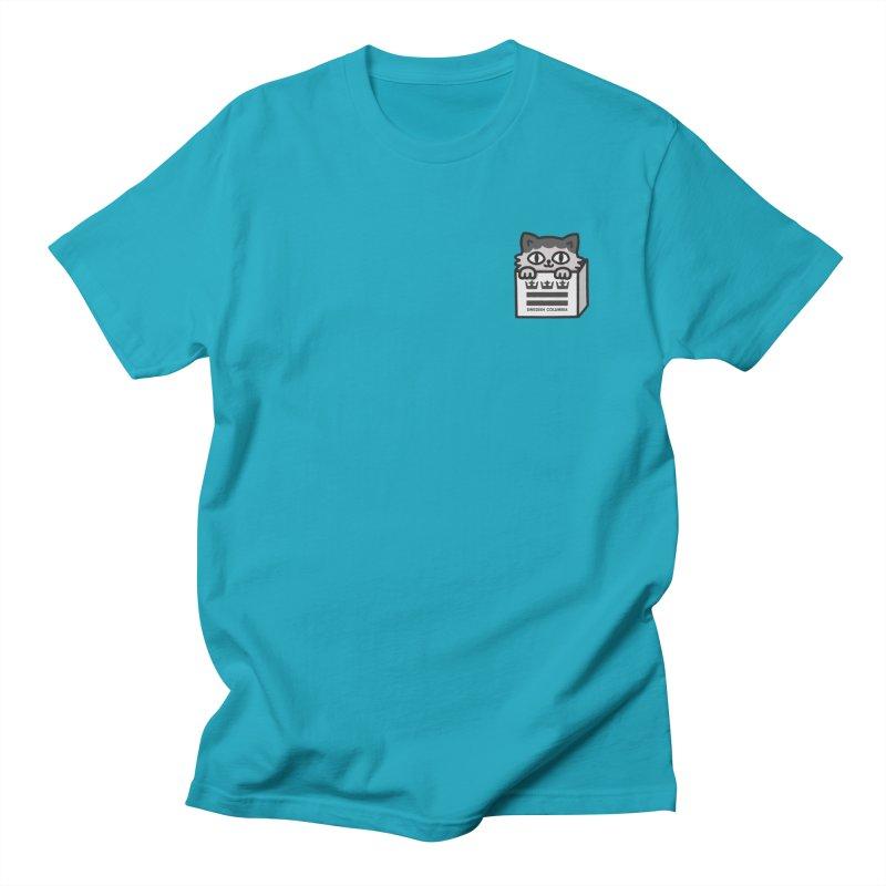 Swedish Columbia cat in a box small Women's Regular Unisex T-Shirt by Swedish Columbia's Artist Shop